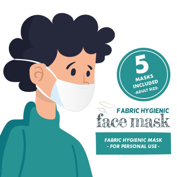 5 pack - Premade Face Masks